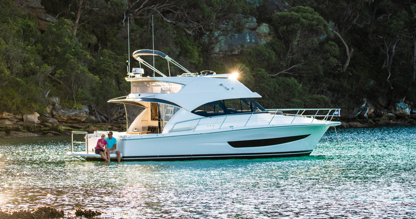 Riviera 39 Sports Motor Yacht - Anchored
