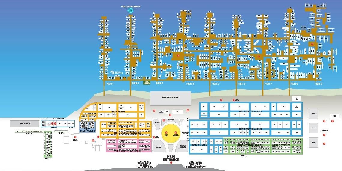 2019 Miami Yacht Show map
