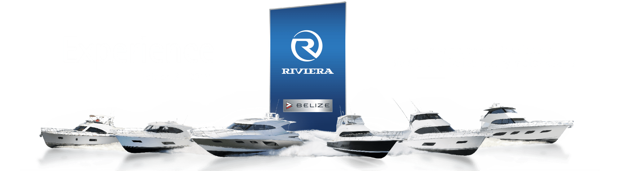 Lineup of Riviera Yachts