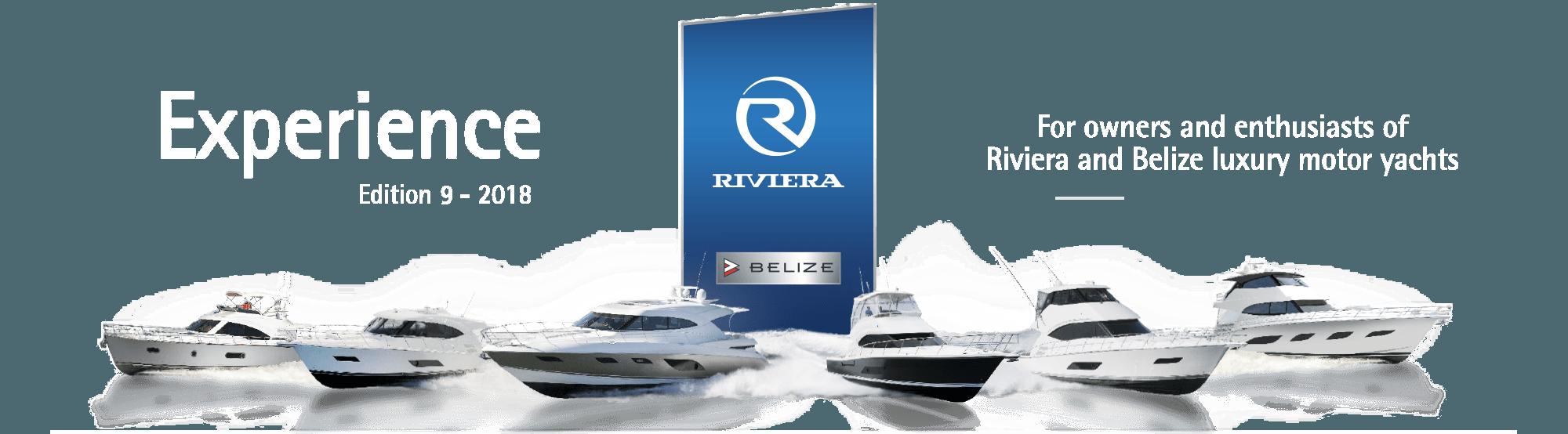 Lineup of Riviera Yachts