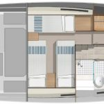 Riviera 395 SUV - Accommodation layout