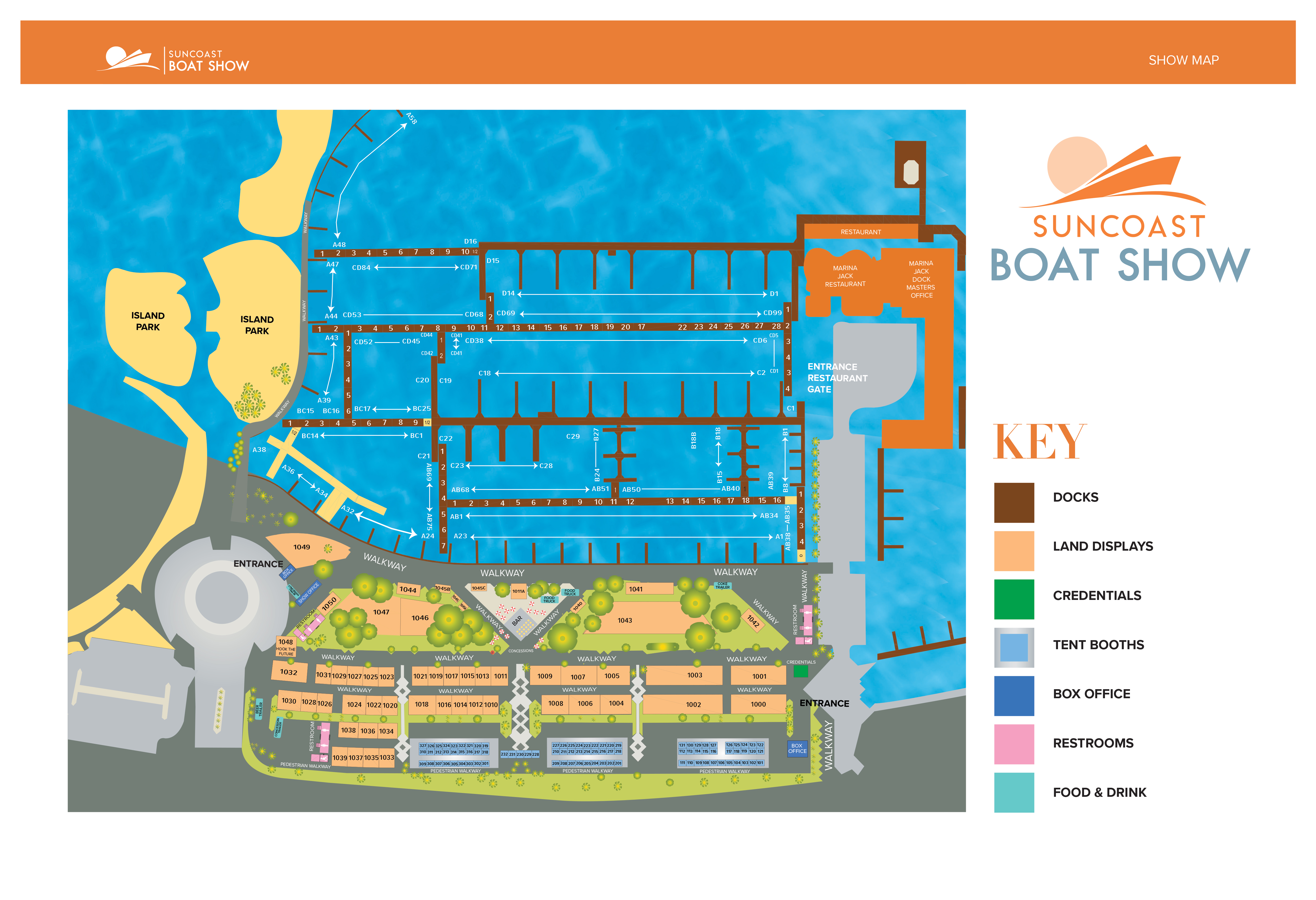 Suncoast Boat Show 2019 Map