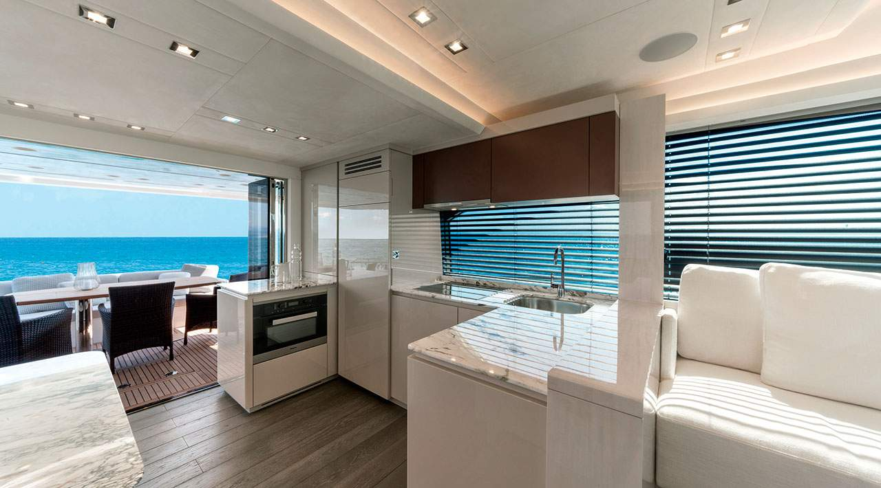 Monte Carlo Yachts MCY 66 galley