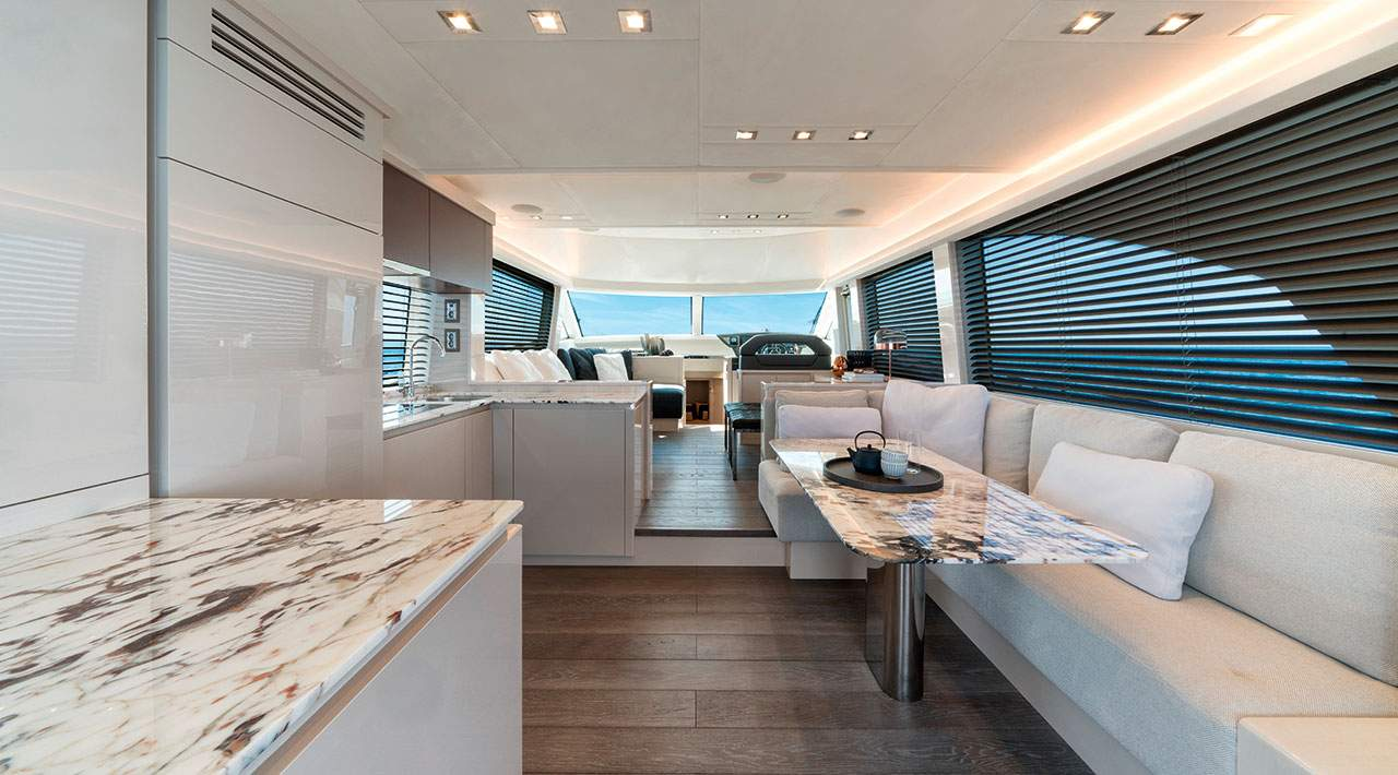 Monte Carlo Yachts MCY 66 dining area