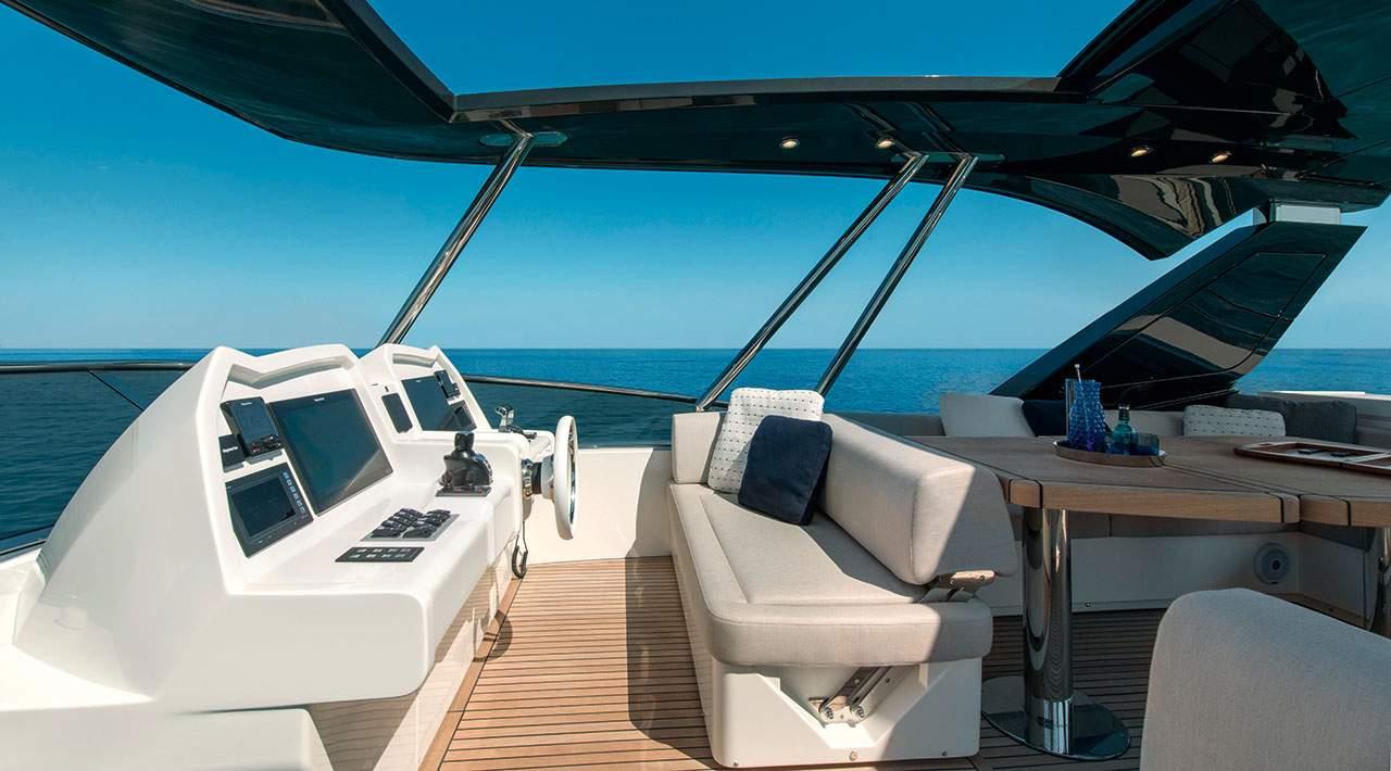 Monte Carlo Yachts MCY 66 flybridge helm