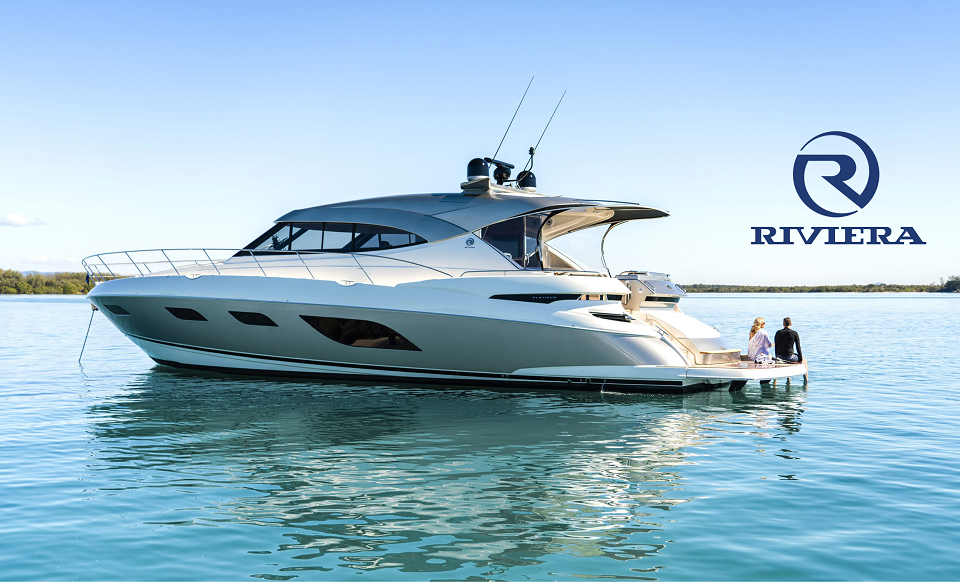 Riviera Yachts display at Fort Lauderdale Boat Show 2019